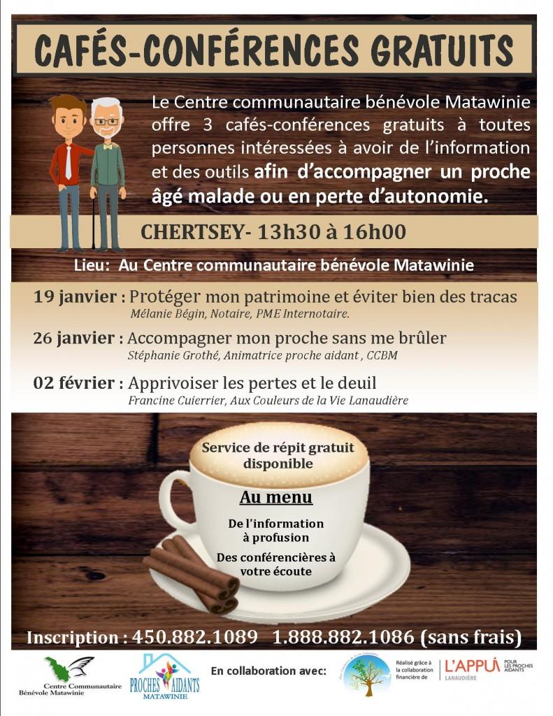 Affiche cafés-conférences Chertsey