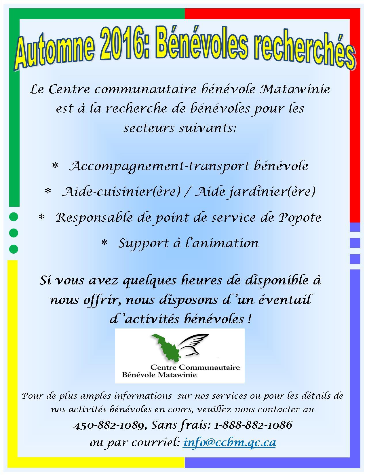 Affiche Bénévoles recherchés KB 11-08-2016