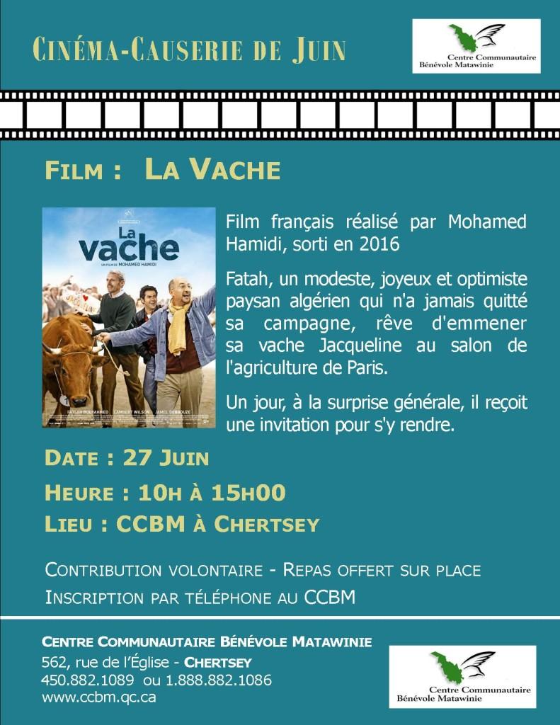 Invitation FILM LA VACHE Juin 2017