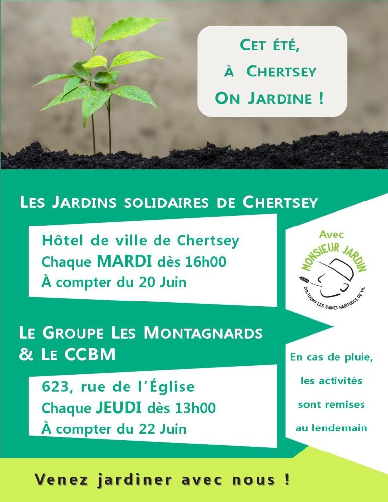 Invitation jardinage hebdo Chertsey été 2017