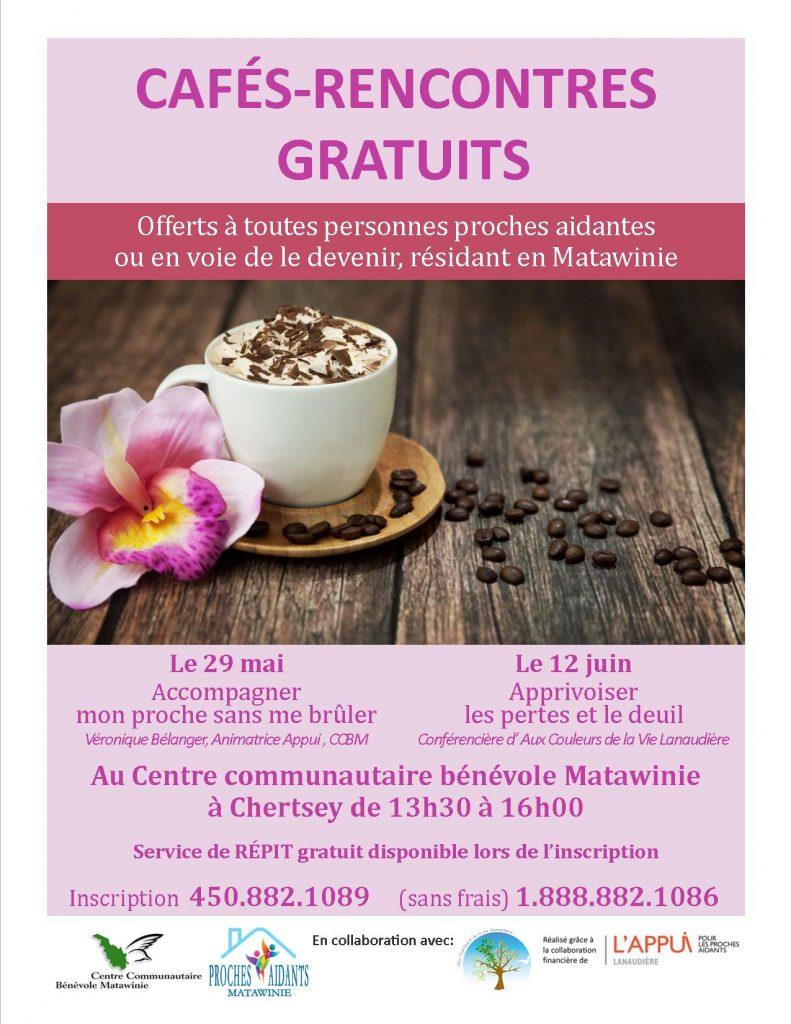 café rencontre proches aidants Chertsey mai juin 2018