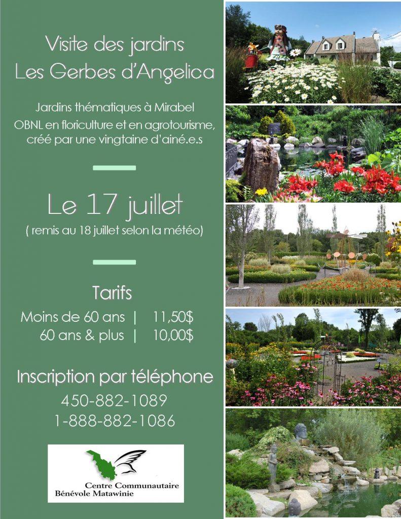 Visite jardins Les Gerbes d'Angélica