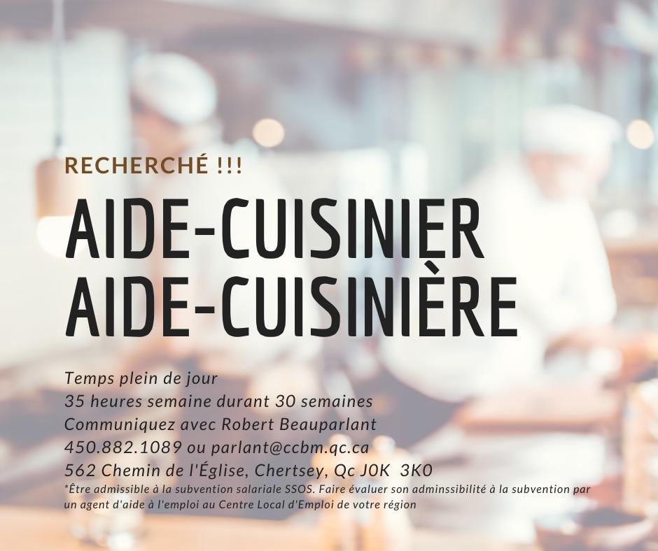 Aide-cuisinier / aide-cuisinière