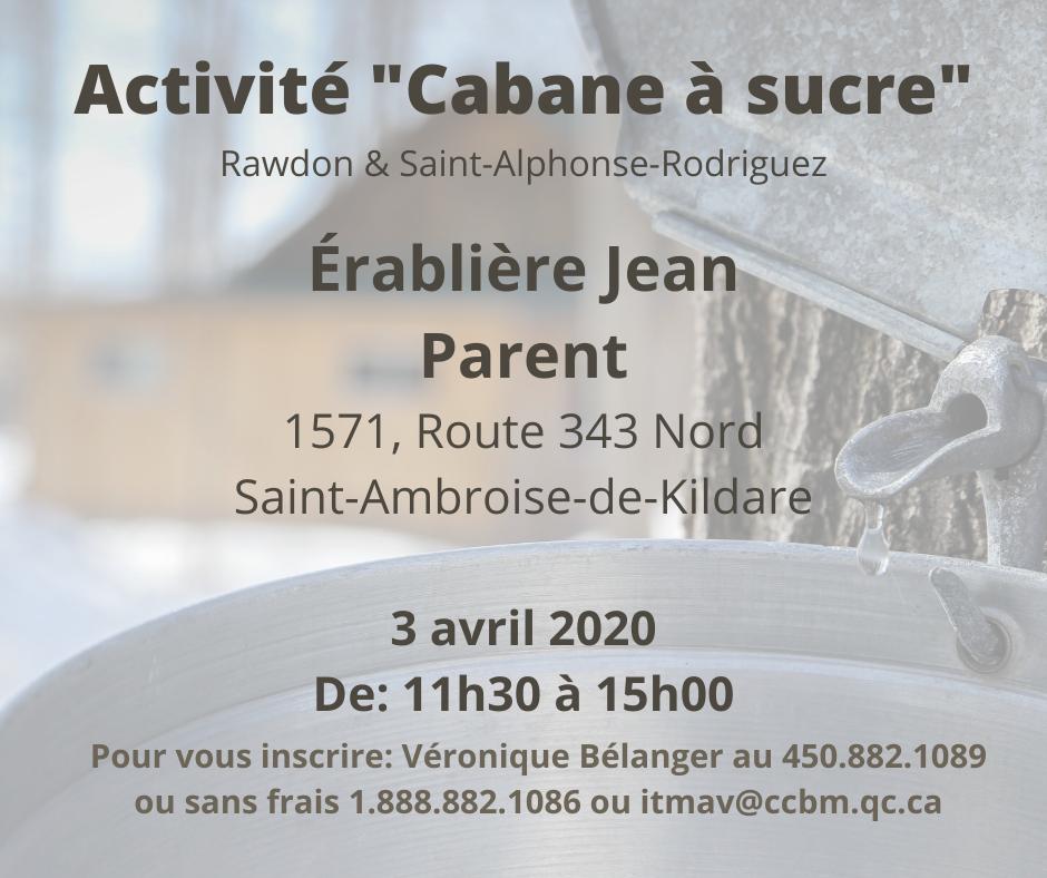 Activité Cabane à sucre